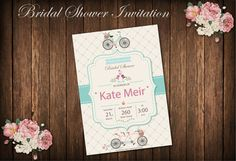 Bicycle BRIDAL Shower or Birthday Party by BolleBluParty on Etsy $12.00 - only etsybolle@gmail.com