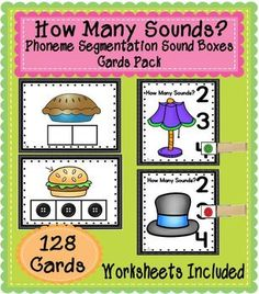 Phoneme-Segmentation Sound Boxes Cards Pack - These 128 Sound Box Cards (Elkonin Boxes) will assist your students in building phonological awareness. Pre K Activities, Phonics Activities, Reading Activities, Summer Activities, Emergent Literacy, Early Literacy, Kindergarten Reading, Teaching Reading, Phonological Awareness Activities