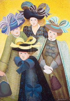 artist,, monique schaar | Monique Schaar | Hat Bows | Detail | Rosenstiel's
