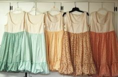 Lovely florals. It would be so easy to add the skirt to a tank. No tute.