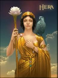 Hera is the Greek goddess of familial love, marriage, motherhood, and women. She is the elder sister and wife of Zeus, therefore making her Queen of Olympus. She is one of the daughters of Rhea and Kronos.