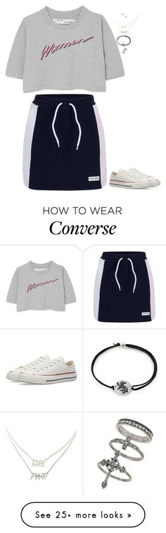 """Really Random Outfit"" by nataliaace on Polyvore featuring Off-White, Converse, Charlotte Russe, Bling Jewelry, Alex and Ani and Miss Selfridge"