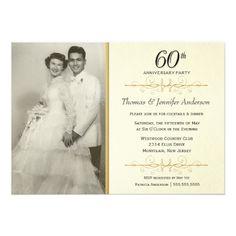 16 best 60th wedding anniversary invitations images on pinterest 60th wedding anniversary invitations anniversary ideas golden anniversary anniversary party invitations 60th anniversary filmwisefo