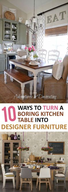 10 Ways to Turn a Boring Kitchen Table into Designer Furniture