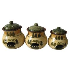 HiEnd Accents Bear Canister - Set of 3 - DI1810CS01