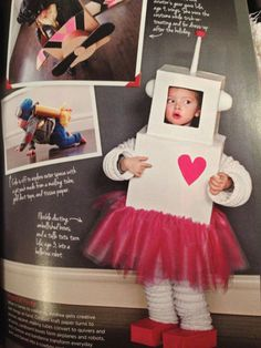 Little girl robot costume Halloween..a robot with a tutu? That might sell it.