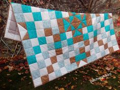 Patchwork deka/přehoz 240x210 cm blanket Picnic Blanket, Outdoor Blanket, Quilts, Scrappy Quilts, Quilt Sets, Log Cabin Quilts, Quilting, Quilt, Picnic Quilt
