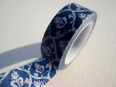 Washi Tape in Royal Blue Damask. $2.95, via Etsy.