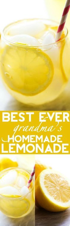 Best Ever Homemade Lemonade - This lemonade has the most delicious flavor and is perfect for quenching your thirst on hot summer days!