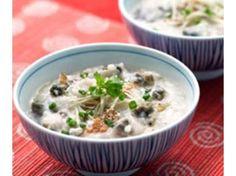 Century egg porridge with salted egg recipe | Here's a recipe for this popular dim sum dish.
