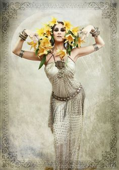 True story: There is a competition among tribal dancers to see who can wear the most flowers ;)