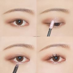 Korea Eye Make Up Idea Pin By Source by akiwarinda Korean Beauty Tips, Korean Makeup Tips, Korean Makeup Look, Korean Makeup Tutorials, Asian Makeup, Eye Makeup Tips, Makeup Ideas, Makeup Products, Makeup Hacks