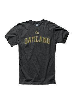 b815da532ad7 Oakland University Golden Grizzlies Black Archer Short Sleeve T Shirt -  22782489