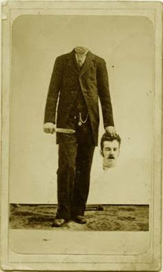 These creepy novelty photos demonstrate that Victorians had a weird sense of humor. Long before Photoshop, Victorian photographers combined images from [. Retro Halloween, Photo Halloween, Halloween Fotos, Halloween Pictures, Halloween Masks, Fall Halloween, Halloween Party, Creepy Halloween, Victorian Halloween