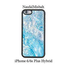 Aqua Blue Glitter iPhone 6/6s PLUS HYBRID Case Cover