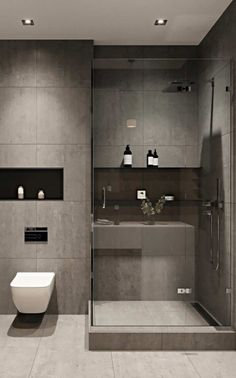 DIY Bathroom Decor Ideas that can be done with cheap Dollar Stores items! These DIY bathroom ideas are perfect for renters and people on a budget. Transform your small bathroom with these classy easy ideas! Washroom Design, Modern Bathroom Design, Contemporary Bathrooms, Bathroom Interior Design, Bath Design, Contemporary Toilets, Wc Design, Modern Contemporary, Bathroom Design Layout