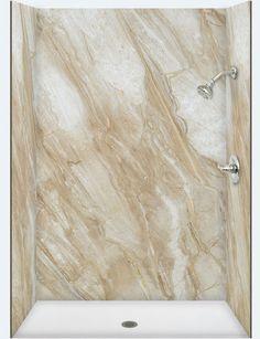 Shower & Bath Stall Marble Travertine Panels | ForzaStone