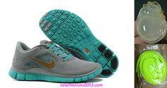 New Mens Nike Free Runs 3 Lx Stealth Metallic Bronze New Green Shoes