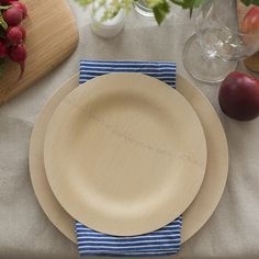 Compostable All-Occasion Bamboo Plates Always keep plenty — available in three sizes — on hand for celebrations.