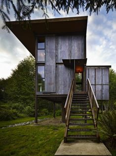 Olson Kundig Architects - Projects - Sol Duc Cabin / The Green Life Residential Architecture, Interior Architecture, Installation Architecture, Architecture Wallpaper, Sustainable Architecture, Interior Design, Ideas De Cabina, Casas Containers, House On Stilts