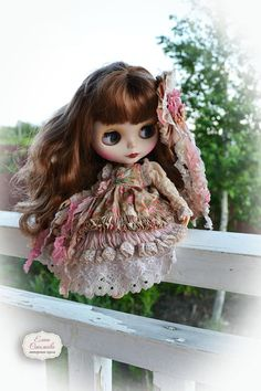 Vintage set for Blythe. for Blythe/Pullip. Blythe dress. Boho.