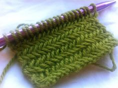How to Knit The Horizontal Herringbone Stitch - NewStitchaDay.com.