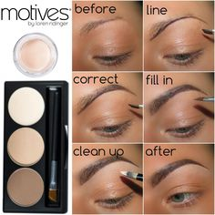 Groom and Fill eyebrows in Motives Brow Kit & Eye Base! Groom and Fill eyebrows in Motives Brow Kit & Eye Base! Eyebrow Pencil, Eyebrow Makeup, Eyeliner, Eye Brows, Makeup Eyebrows, Eyebrow Brush, Motives Makeup, Eyebrow Tips, Eyebrow Tinting