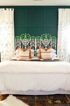 More Bedroom Inspiration Green Wall Wall Color Decorating Bedrooms Bed