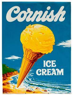 @frances_quinn Vintage advertising sign for Cornish ice cream  via @PWCFreelance