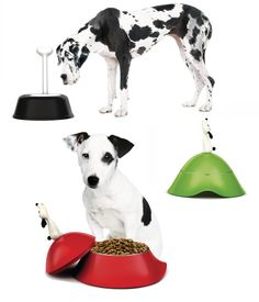 ALESSI Lulà * dog bowl BLACK and RED - X2 water and food