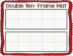 FREEBIE Ten-frame mat
