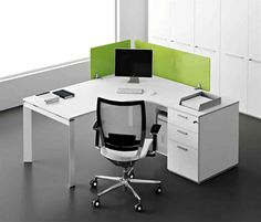 Beau White Corner Office Desk Corner Office Desk, Diy Office Desk, Modern Office  Desk,