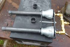 Homemade Pipe Burner | This is the overall view of forge (note pins in lid hinge are removed ...