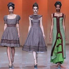 shweshwe dresses by bongiwe walaza - Real Hair Cut African Dresses For Women, African Print Dresses, African Attire, African Wear, African Fashion Dresses, African Women, African Theme, African Outfits, African Prints
