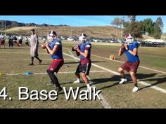Youth Football Quarterback Drills and Techniques Youth Football Drills, Flag Football Plays, Football Defense, Football 101, Football Training Drills, Tackle Football, Football Workouts, Sports Training, Football Techniques