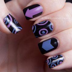 Purple nail design