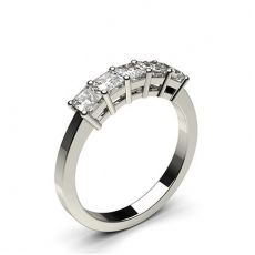 4 Prong Setting Plain Five Stone Ring (Available from to Emerald Cut Diamonds, Princess Cut Diamonds, Diamond Rings, Diamond Cuts, Stone Rings, White Gold, Engagement Rings, Layer Necklace, Stuff To Buy