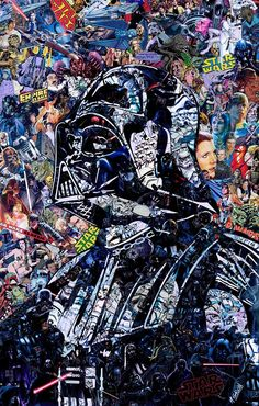 Amazing collage by Mr Garcin of Darth Vader More