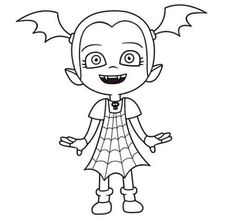 Vampirina is a children's animated computer animated musical television series that premiered at Disney Junior on October Ballerina Coloring Pages, Coloring Pages For Girls, Coloring Pages To Print, Free Printable Coloring Pages, Free Coloring Pages, Coloring Books, Disney Up, Disney Junior, Moldes Halloween