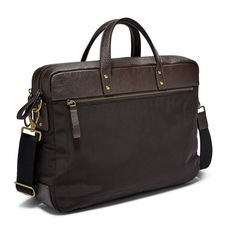 Fossil Men Haskell Double Zip Briefcase Black - One size Messenger Bag Backpack, Backpack Travel Bag, Travel Bags, Nylons, Leather Purses, Leather Handbags, Fossil, Wallet Sale, Rfid Wallet