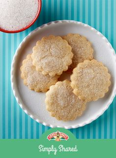 We've made a LOT of holiday cookies — and these are some of our favorites. Classic sugar cookies made with European Style Butter and lightly sprinkled with cardamom sugar.
