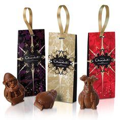 Ten Chocolate Christmas Tree Decorations