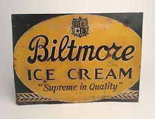 Biltmore ice cream  |  vintage signs