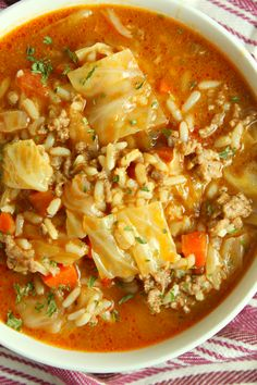 Best Ever Cabbage Roll Soup! Best Ever Cabbage Roll Soup! Cabbage Soup Recipes, Soup With Cabbage, Crockpot Cabbage Roll Soup, Unstuffed Cabbage Soup, Cabage Roll Soup, Stuff Cabbage Soup, Beef Broth Soup Recipes, Cabbage Roll Casserole, Hearty Soup Recipes