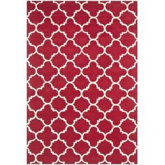 Varick Gallery Wilkin Red & Ivory Area Rug Rug Size: 4' x 6'