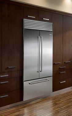 Sub-zero ICBBI-36UFD dubbeldeurs koelkast met vrieslade - De beste keuken ideeën | UW-keuken.nl #koelkast