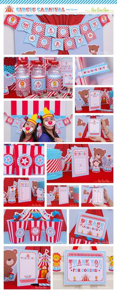 Circus Baby Shower Package Collection Set Mega by LeeLaaLoo
