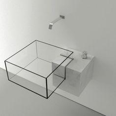 Glass cube sink! Kub par Victor Vasilev #bathroom #products #design