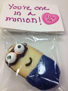 Minion Valentines Treats from @Jess Liu Cruz 's colleague. Adorable. #valentines