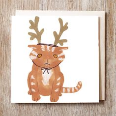 jo clark design Cat In A Hat Christmas Cards